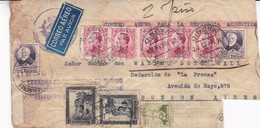 "ESPAGNE ENVELOPPE CIRCULEE DE ""LEGACION DE GUATEMALA"" MADRID A ""DIARIO LA PRENSA"" ARGENTINE AN 1933 PAR AVION -LILHU - Poste Aérienne"