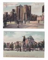 2 Jolies CPA Coul. Gand / Gent (Belgique), Animation, 1907 - Gent