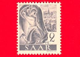 Nuovo - MNH - SARRE - SAAR - 1947 - Industria Mineraria - Professioni - Minatore Al Lavoro - 2 - Ongebruikt