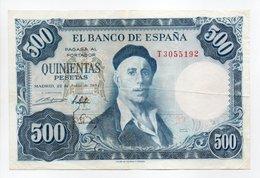 - Billet ESPAGNE - 500 PESETAS - EL BANCO DE ESPANA - - [ 3] 1936-1975: Regime Van Franco