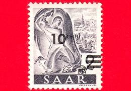 Nuovo - MNH - SARRE - SAAR - 1947 - Industria Mineraria - Professioni - Minatore Al Lavoro - Sovrastampa 10 Su 2 - Ongebruikt