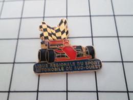 115A Pin's Pins / Beau Et Rare / THEME : SPORTS / LIGUE REGIONALE DU SUD-OUEST DU SPORT AUTOMOBILE - Automobilismo - F1
