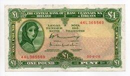 - Billet IRLANDE - ONE POUND PUNT - THE CENTRAL BANK OF IRELAND - - Ireland