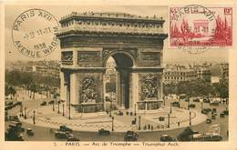 Carte Maximum - Arc De Triomphe De Paris 1938 - YT 403 - Maximum Cards