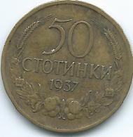 Bulgaria - 1937 - Boris III - 50 Stotinki - KM46 - Bulgaria