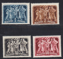 Hongrie 1950 Yvert 942 / 945 ** 5eme Anniversaire De La Liberation. - Ungarn