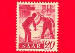 Nuovo - MNH - SARRE - SAAR - 1947 - Industria Siderurgica - Professioni - Addetti Alla Fornace - 20 - Ongebruikt