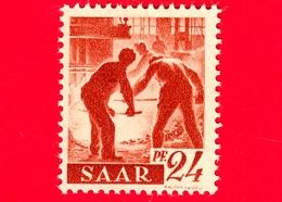 Nuovo - MNH - SARRE - SAAR - 1947 - Industria Siderurgica - Professioni - Addetti Alla Fornace - 24 - Ongebruikt