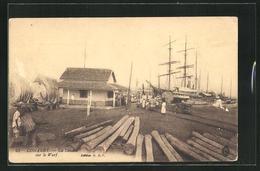 CPA Conakry, La Douane Sur Le Warf - Postcards