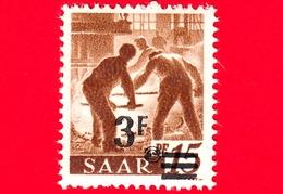 Nuovo - MNH - SARRE - SAAR - 1947 - Industria Siderurgica - Professioni - Addetti Alla Fornace - Sovrastampa 3 Su 15 - Ongebruikt