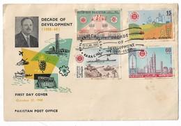 Pakistan 1968 FDC Decade Of Development Ayub Khan - Pakistan