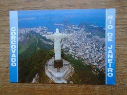 Rio De Janeiro , Vista Aéréa Do Corcovado , Com Pao De Açucar Ao Fundo - Rio De Janeiro