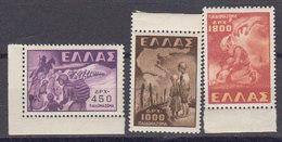 Grece 1948 Yvert 566 / 568 ** Neufs Sans Charniere. En Souvenir De La Deportation Des Enfants Grecs. - Griechenland