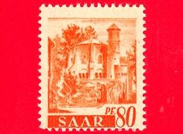 Nuovo - MNH - SARRE - SAAR - 1947 - Vedute - 'Vecchia Torre', Abbazia Di Mettlach - 80 - Ongebruikt