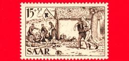 Nuovo - MNH - SARRE - SAAR - 1956 - Croce Rossa - Röchling, 'Posto Di Soccorso Dei Feriti In Una Cava' - 15+5 - Ongebruikt