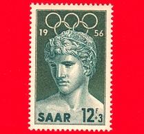 Nuovo - MNH - SARRE - SAAR - 1956 - Giochi Olimpici Di Melbourne - Statua Del Vincitore Di Benevento (Louvre) - 12+3 - Ongebruikt