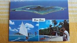 CPM POLYNESIE FRANCAISE BORA BORA  3 VUES BATEAU PHOTO CHRISTIAN ERWIN 204 - Polynésie Française