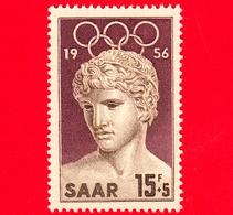 Nuovo - MNH - SARRE - SAAR - 1956 - Giochi Olimpici Di Melbourne - Statua Del Vincitore Di Benevento (Louvre) - 15+5 - Ongebruikt