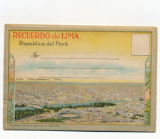 Lima Libreta 18 Views  Edit Sablich Tram  Corrida Torero Belmonte En Peru - Peru