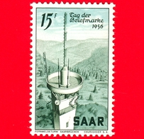 Nuovo - MNH - SARRE - SAAR - 1956 - Giornata Del Francobollo - Torre Della Televisione Di Saarbrücken - 15 - Ongebruikt