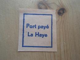 Vignette Port Payé La Haye - Commemorative Labels