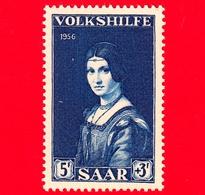Nuovo - MNH - SARRE - SAAR - 1956 - Servizi Sociali - Dipinto Di Boltraffio 'La Belle Ferronniere' - 5+3 - Ongebruikt
