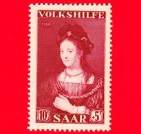 Nuovo - MNH - SARRE - SAAR - 1956 - Servizi Sociali - Dipinto Di Rembrandt 'Saskia'' - 10+5 - Ongebruikt