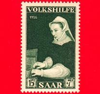 Nuovo - MNH - SARRE - SAAR - 1956 - Servizi Sociali - Dipinto Di Von Floris  'Spinet Playing Woman' - 15+7 - Ongebruikt