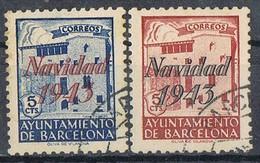 Serie Completa Local Ayuntamiento BARCELONA 1943, Navidad, Edifil Num SH 53-54 º - Barcellona