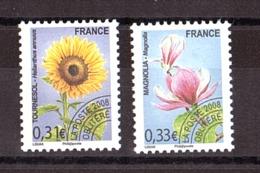 France - 2008 - Préoblitérés N° 257 Et 258 - Neufs ** - Fleurs - Préoblitérés