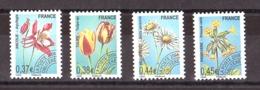 France - 2008 - Préoblitérés N° 253 à 256 - Neufs ** - Fleurs - Préoblitérés