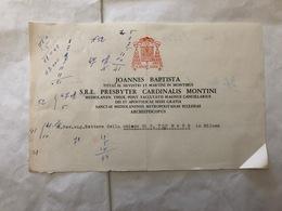 CARTA INTESTATA JOANNES BAPTISTA REV.SIG.RETTORE CHIESA S.TOMMASO MILANO - Vieux Papiers