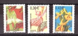 France - 2007 - Préoblitérés N° 250 à 252 - Neufs ** - Fleurs - Préoblitérés