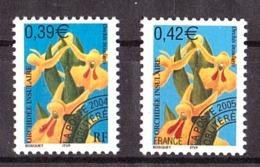 France - 2004/05 - Préoblitérés N° 248 Et 249 - Neufs ** - Fleurs - Préoblitérés