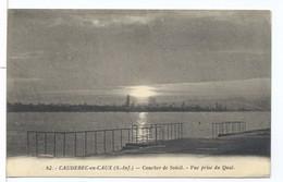 CPA Caudebec En Caux Coucher De Soleil Vue Prise Du Quai - Caudebec-en-Caux