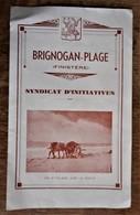 BRIGNOGAN-PLAGE  Syndicat D'initiatives - Dépliant Ancien - Tourism Brochures