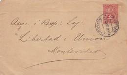 PARAGUAY ENTIER ENVELOPPE CIRCULEE DE ASUNCION A MONTEVIDEO, URUGUAY ANNEE 1892 -LILHU - Paraguay