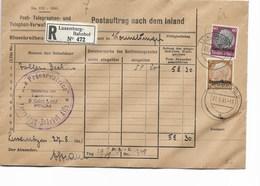 SH 0528. Oc. Allemande 1-14 LUXEMBURG 2 - 27.8.41 S/Lettre RECOMMANDEE Des Postes Et Télégraphes. Au Dos WORMELDINGEN.TB - 1940-1944 German Occupation