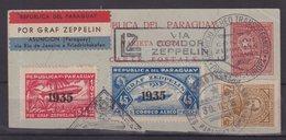 PARAGUAY : FGT DE VOL ZEPPELIN . DONT PA N° 76 ET N° 80 . 1935 .  ( CATALOGUE YVERT ) . - Paraguay