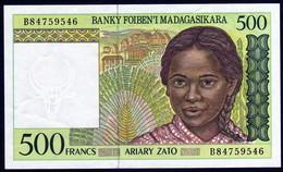 Madagascar 1998 500 Francs   AU / UNC Neuf    Voir Explications - Madagascar