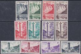 Andorre N°  138 / 49 XX  Paysages De La Principauté, Partie De Série : Les 12 Valeurs Sans Charnière, TB - Andorra Francese