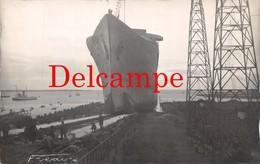 St Saint Nazaire (44) - Carte Photo : Le Lancement Du Paquebot Normandie Le 29 Octobre 1932 - Photo Fredy's - Saint Nazaire
