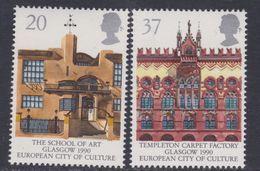 Europa 1990 : Etablissements Postaux : Grande Bretagne N° 1455 / 56 XX,  La Paire Sans Charnière, TB - 1990