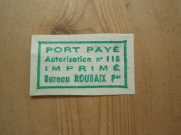 Vignette Port Payé Roubaix - Commemorative Labels