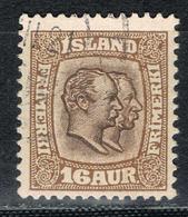 Island 55 Gestempelt - 16 Aurar Christian IX./Frederik VIII. 1907 - Gebraucht