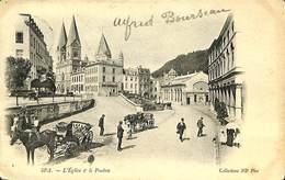 028 083 - CPA - Belgique - Spa - L'Eglise Et Le Pouhon - Spa