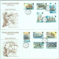 84372 - FALKLAND - Postal History - Set Of 15 Stamps On 3 FDC COVER 1989 - SHIPS - Islas Malvinas