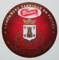 Etiquette Camembert - Brioux - Fromagerie Coopérative De Bougon 79 Poitou - Deux-Sèvres   A Voir ! - Fromage