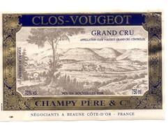 Etiquette Clos Vougeot 1987 - Bourgogne