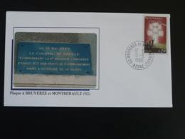 Lettre Commemorative Cover Colonel De Gaulle Offensive De La Serre Bruyères 02 Aisne 1990 - De Gaulle (Général)